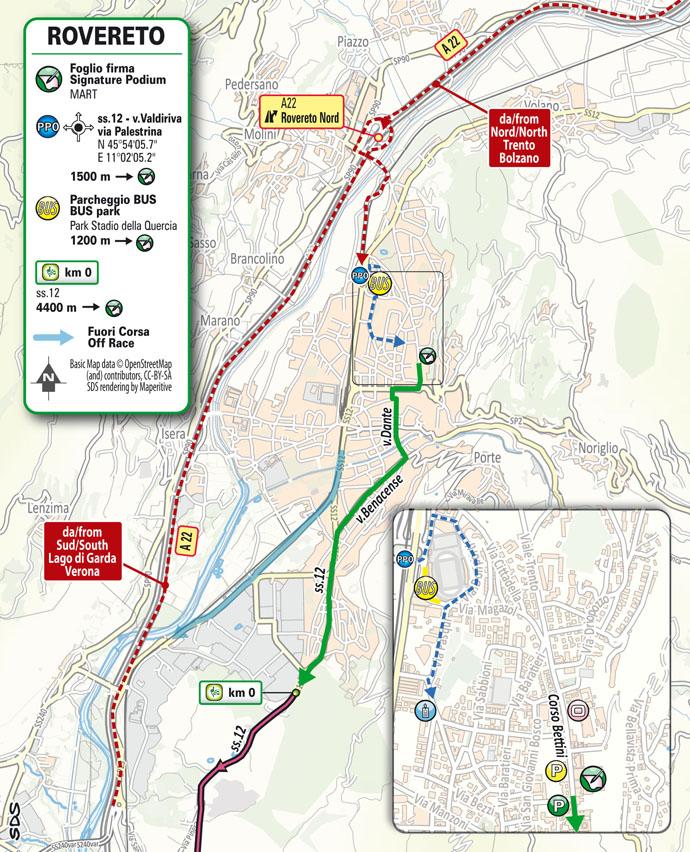 Start Stage 18 Giro d'Italia 2021: Rovereto, Stradella
