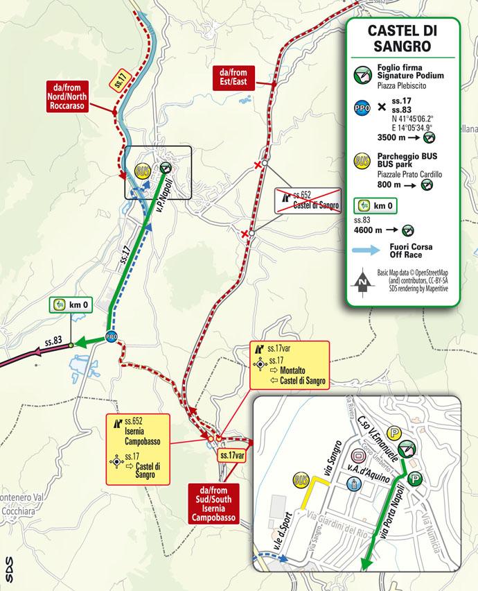 salida Etapa 9 Giro d'Italia 2021 Castel di Sangro Campo Felice Rocca di Cambio