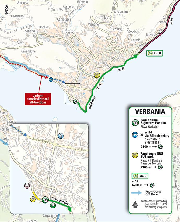 Départ Étape 20 Giro d'Italia 2021: Verbania, Valle Spluga - Alpe Motta