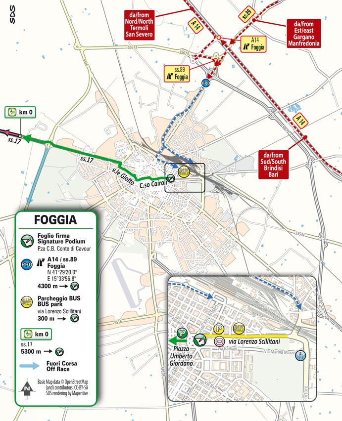 partenza Stage 8 Giro d'Italia 2021 Foggia Guardia Sanframondi