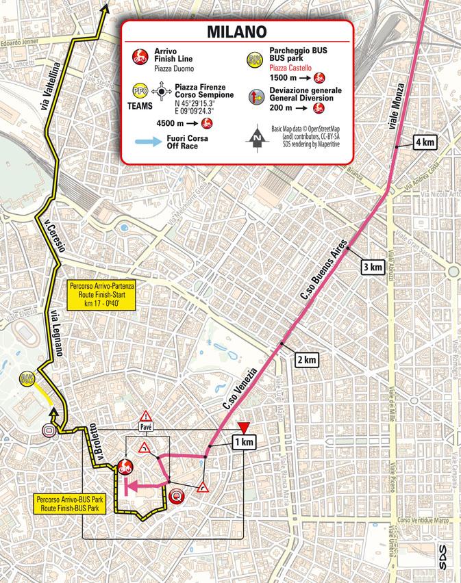 Arrivée Étape 21 Giro d'Italia 2021: Senago, Milano TISSOT ITT