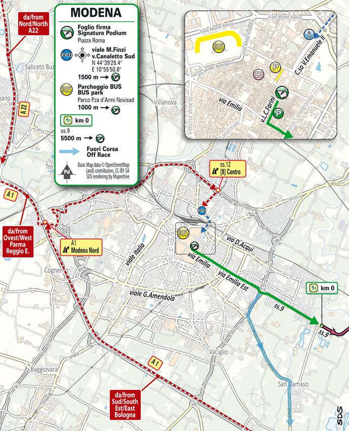 start Stage 5 del Giro d'Italia 2021 Modena Cattolica