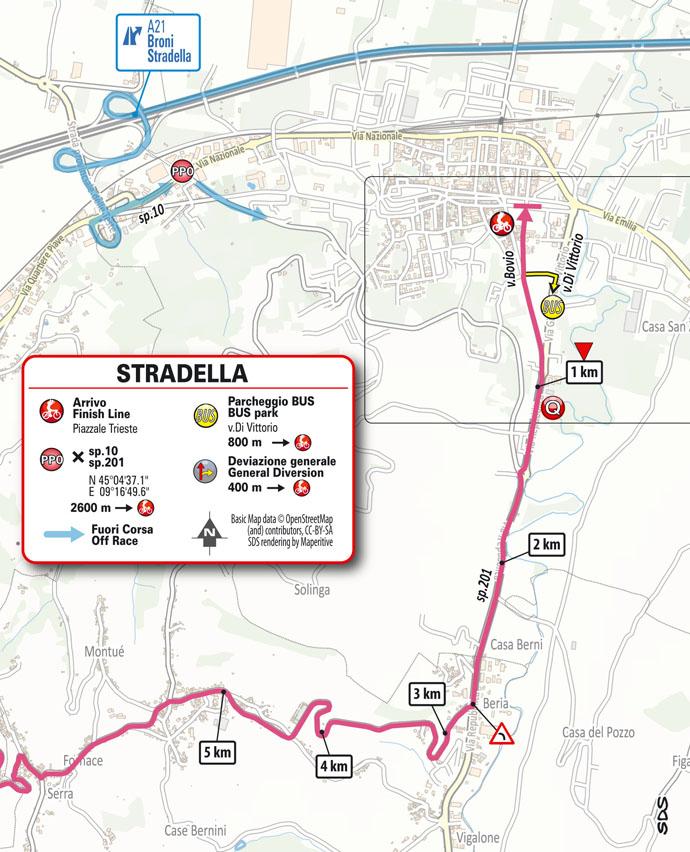 Finish Stage 18 Giro d'Italia 2021: Rovereto, Stradella