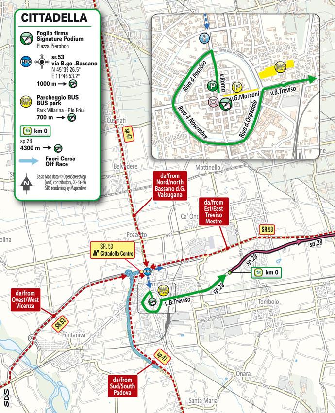 partenza Tappa 14 del Giro d'Italia 2021 Cittadella Monte Zoncolan
