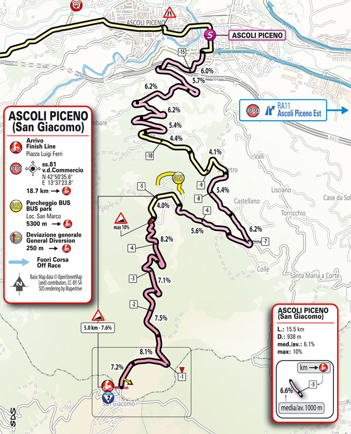 finish Stage 6 Giro d'Italia 2021 Grotte di Frasassi Ascoli Piceno San Giacomo