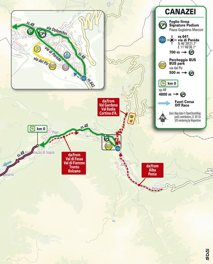 Start Stage 17 Giro d'Italia 2021: Canazei, Sega di Ala