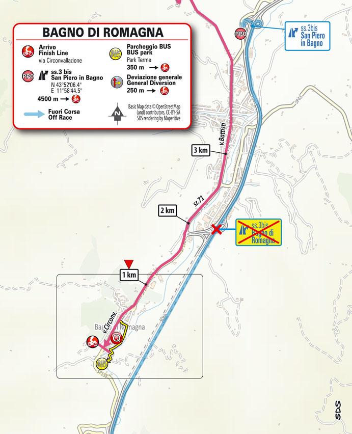 llegada Etapa 12 Giro d'Italia 2021 Siena Bagno di Romagna