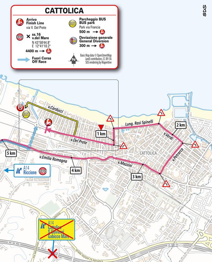 finish Stage 5 del Giro d'Italia 2021 Modena Cattolica