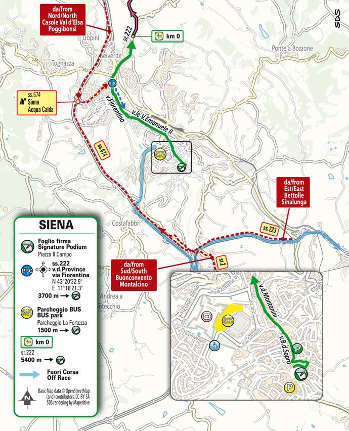 salida Etapa 12 Giro d'Italia 2021 Siena Bagno di Romagna