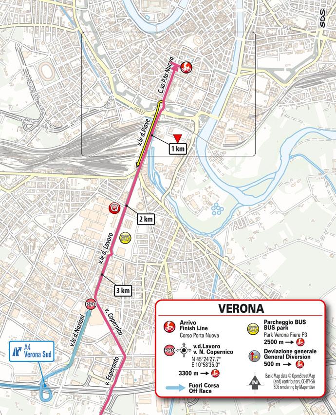 llegada Etapa 13 Giro d'Italia 2021 Ravenna Verona