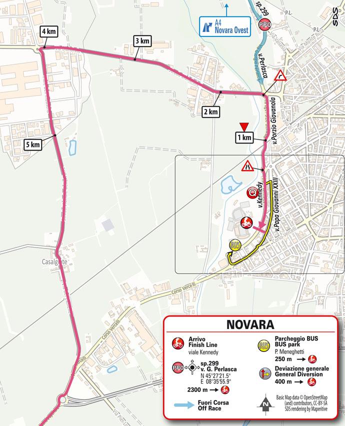 Llegada Etapa 2 Giro d'Italia 2021 Stupinigi Nichelino Novara