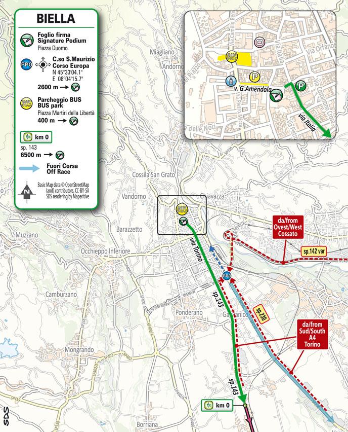 salida Etapa 3 Giro d'Italia 2021 Biella Canale