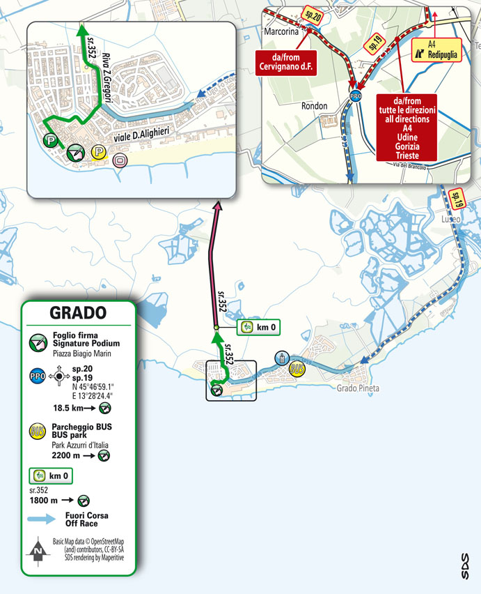 start Stage 15 Giro d'Italia 2021 Grado Gorizia