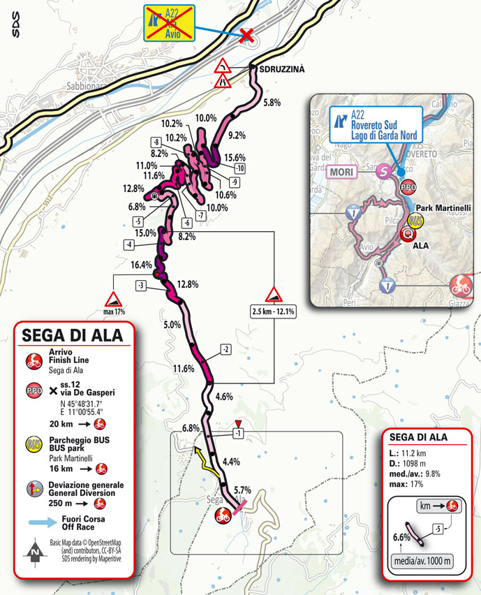Finish Stage 17 Giro d'Italia 2021: Canazei, Sega di Ala