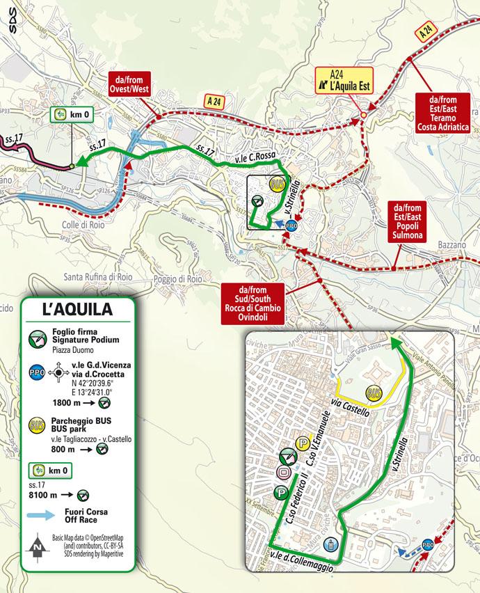 start Stage 10 Giro d'Italia 2021 L'Aquila Foligno