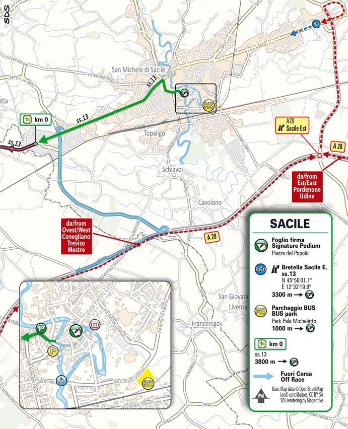 salida Etapa 16 Giro d'Italia 2021 Sacile Cortina d'Ampezzo