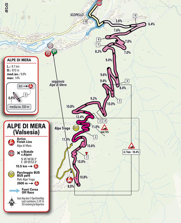 Arrivo Tappa 19 del Giro d'Italia 2021: Abbiategrasso, Alpe di Mera (Valsesia)