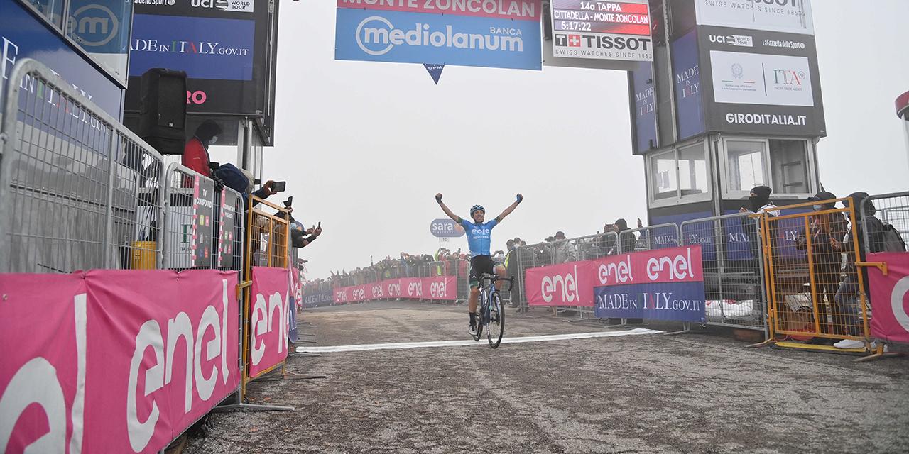 Lorenzo Fortunato vince la tappa 14 del Giro d'Italia, Bernal ancora in Maglia Rosa