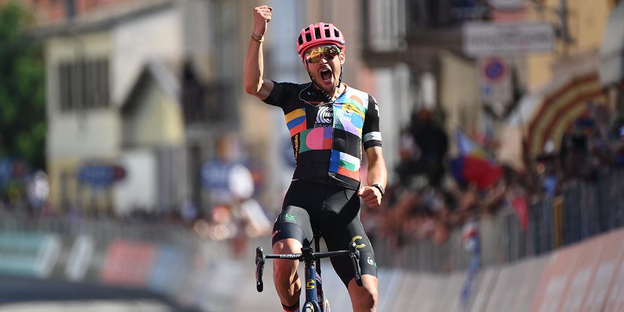 Alberto Bettiol vince la tappa 18 del Giro d'Italia, Egan Bernal ancora in Maglia Rosa