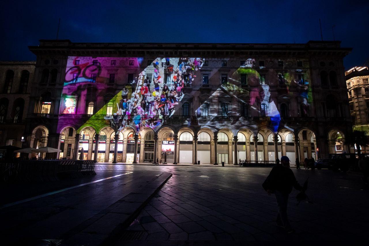 Videomapping di Enel e RCS per i 90 anni della Maglia Rosa in Piazza Duomo a Milano