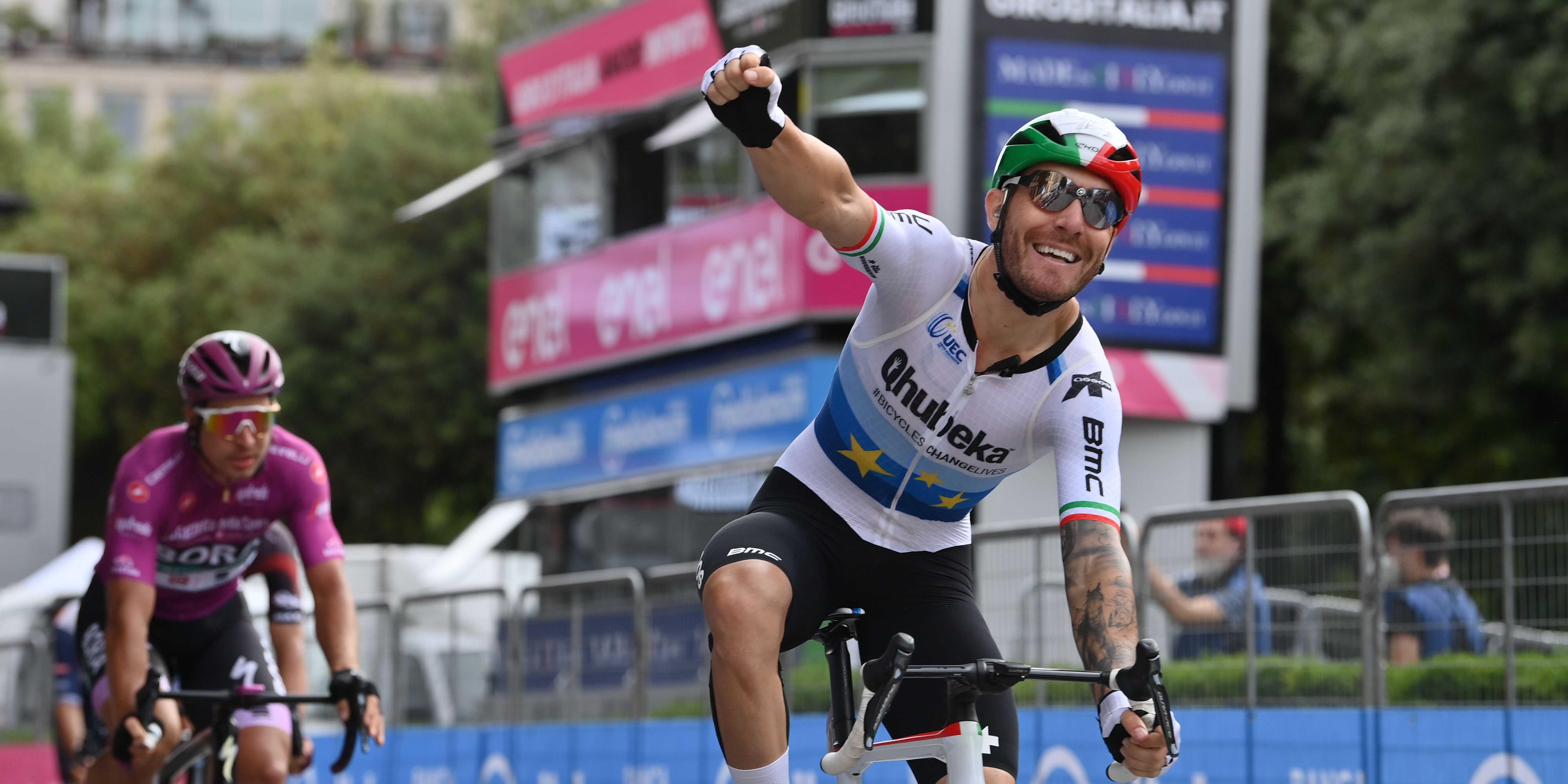 Giacomo Nizzolo wins stage 13 of the Giro d'Italia, Bernal retains the Maglia Rosa