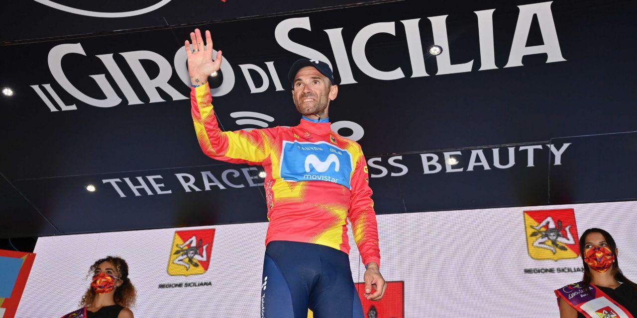 Alejandro Valverde vince a Caronia e si prende la Maglia Giallo-Rossa
